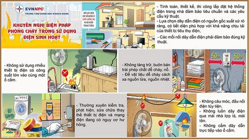 EVNNPC chú trọng công tác an toàn phòng cháy hệ thống điện - ảnh 2