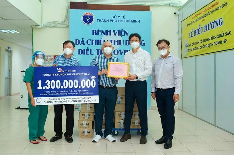 Hỗ trợ thực phẩm bảo vệ sức khỏe cho y, bác sĩ Bệnh viện dã chiến số 16 - ảnh 1