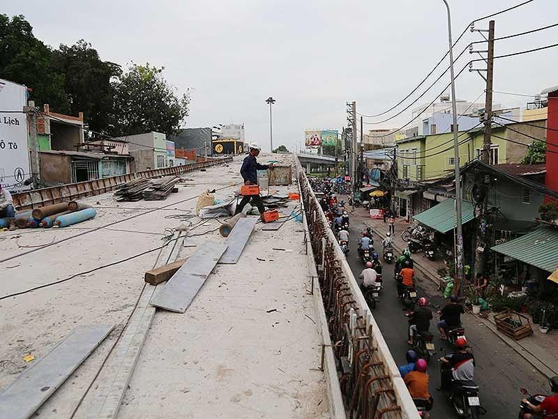 Thông xe nhánh cầu vượt 'khó nhất' nút Nguyễn Kiệm - ảnh 1