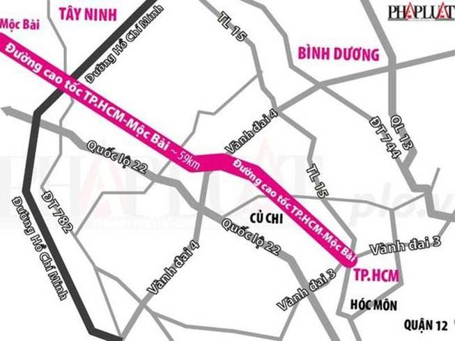 Thông tin mới về dự án cao tốc TP.HCM - Mộc Bài - ảnh 1
