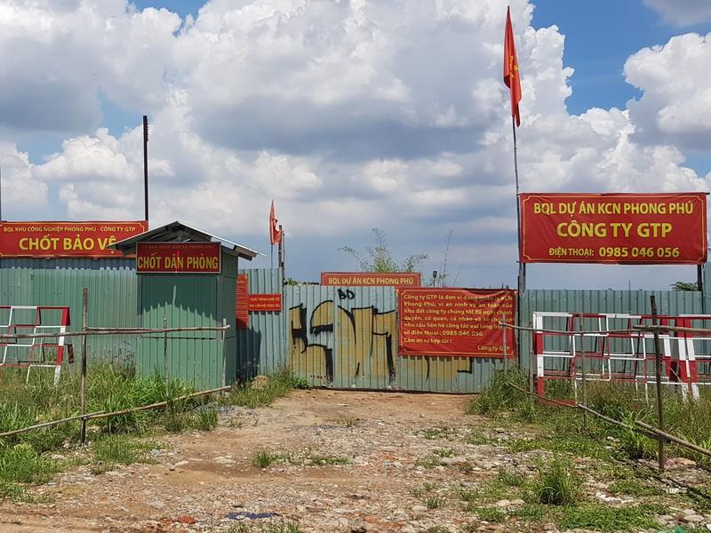 Cưỡng chế các công trình không phép tại KCN Phong Phú - ảnh 1