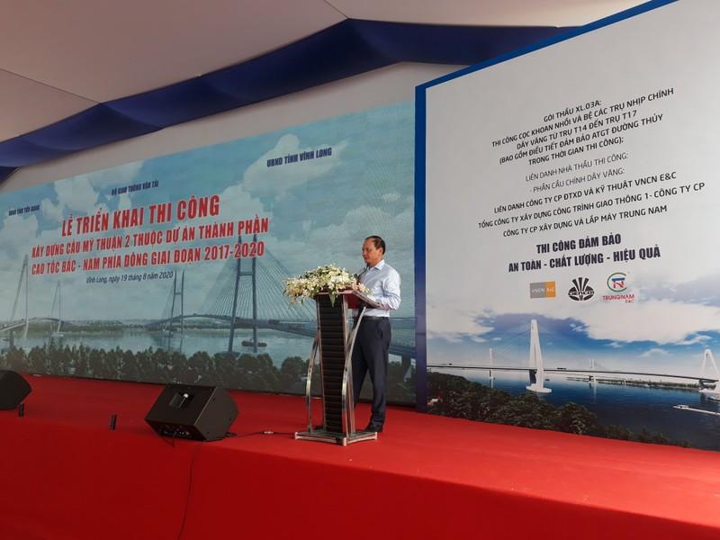 Khởi công xây dựng phần cầu chính dự án cầu Mỹ Thuận 2 - ảnh 1
