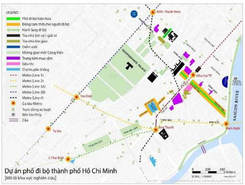 Đề xuất phố đi bộ gồm 5 tuyến đường trung tâm TP.HCM - ảnh 1