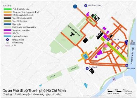 Đề xuất phố đi bộ gồm 5 tuyến đường trung tâm TP.HCM - ảnh 2