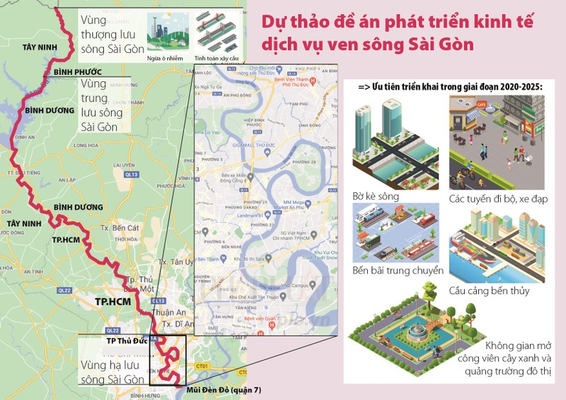 Ngắm toàn cảnh quy hoạch sông Sài Gòn hiện hữu nhìn từ trên cao - ảnh 15