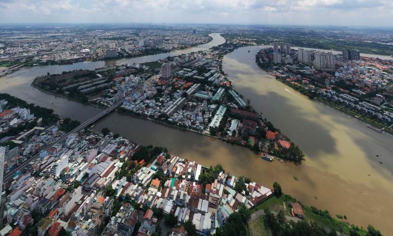 Ngắm toàn cảnh quy hoạch sông Sài Gòn hiện hữu nhìn từ trên cao - ảnh 11