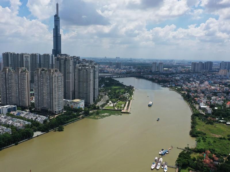 Ngắm toàn cảnh quy hoạch sông Sài Gòn hiện hữu nhìn từ trên cao - ảnh 1