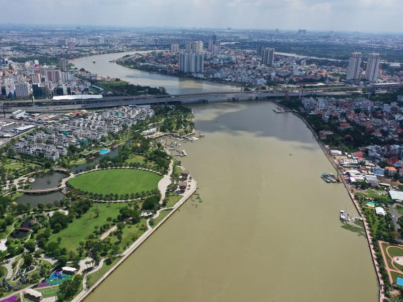 Ngắm toàn cảnh quy hoạch sông Sài Gòn hiện hữu nhìn từ trên cao - ảnh 2