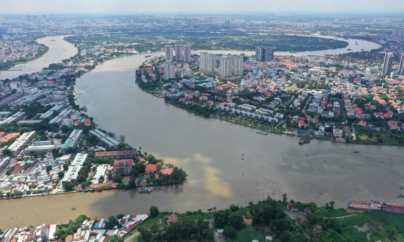 Ngắm toàn cảnh quy hoạch sông Sài Gòn hiện hữu nhìn từ trên cao - ảnh 9
