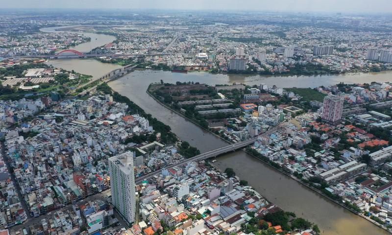 Ngắm toàn cảnh quy hoạch sông Sài Gòn hiện hữu nhìn từ trên cao - ảnh 10