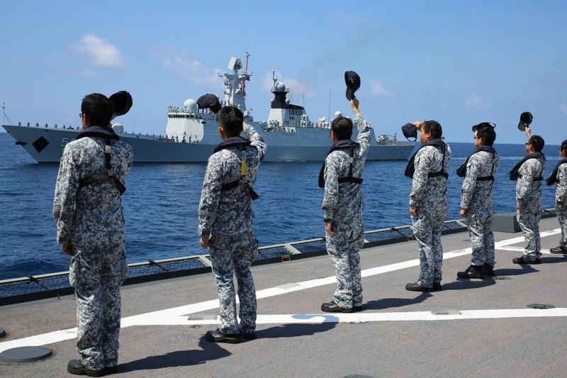 Hải quân Trung Quốc và Singapore tiến hành tập trận chung  - ảnh 1