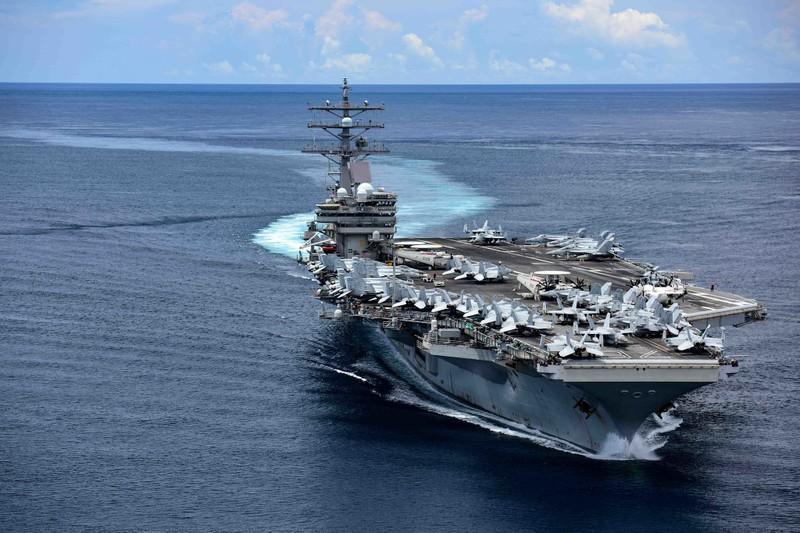 Nhóm tàu sân bay Mỹ Ronald Reagan trở lại Biển Đông sau gần 3 tháng ở Trung Đông - ảnh 1