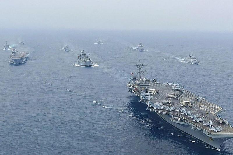 Mỹ, Nhật, Úc, Ấn Độ bắt đầu cuộc tập trận hải quân Malabar 2021 - ảnh 1