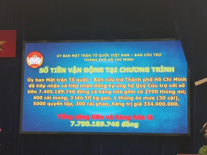 Hơn 7,7 tỉ đồng hỗ trợ cho miền Trung thông qua UBMTTQ TP.HCM - ảnh 1