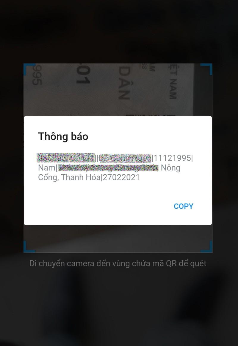 Quét mã QR trên thẻ CCCD, công dân có được những thông tin gì? - ảnh 2