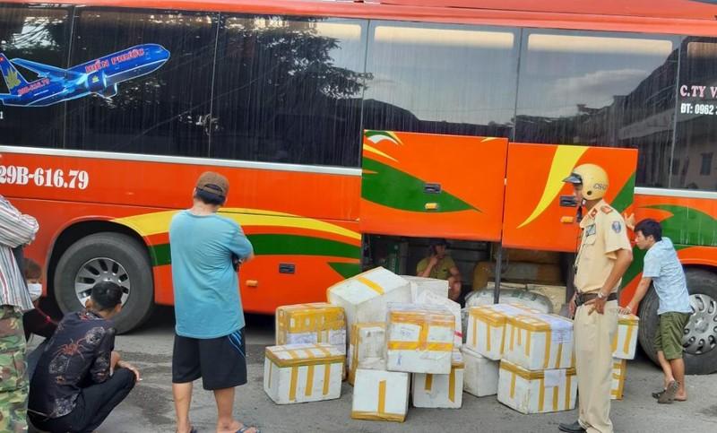 'Tóm' 790 kg nem chua, chả lậu từ Hà Nội vào TP.HCM - ảnh 1