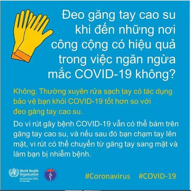 Đeo găng tay góp phần phòng COVID-19 - ảnh 3
