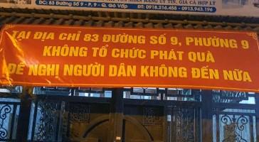 TP.HCM: Điểm phát quà từ thiện ở quận Gò Vấp đã ngưng - ảnh 1