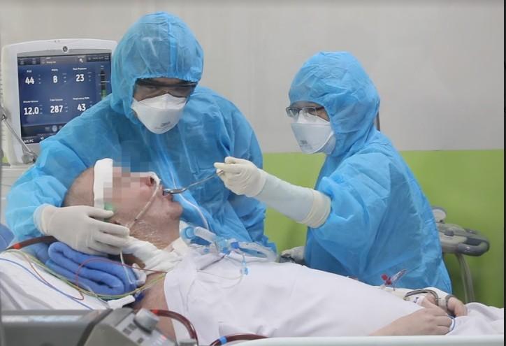Bệnh nhân 91: Phổi phục hồi 60%, ăn được qua đường tiêu hóa - ảnh 1