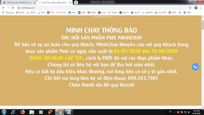 Yêu cầu ngưng từ 20-8, pate Minh Chay vẫn sản xuất đến 28-8? - ảnh 2