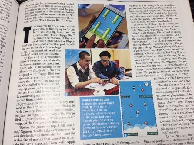 Rolling Stone đăng ảnh Phó Thủ tướng Vũ Đức Đam tiếp cha đẻ Flappy Bird - ảnh 1