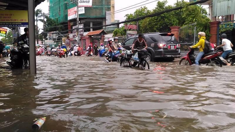 Sinh hoạt của người dân TP.HCM đảo lộn vì mưa lớn - ảnh 10