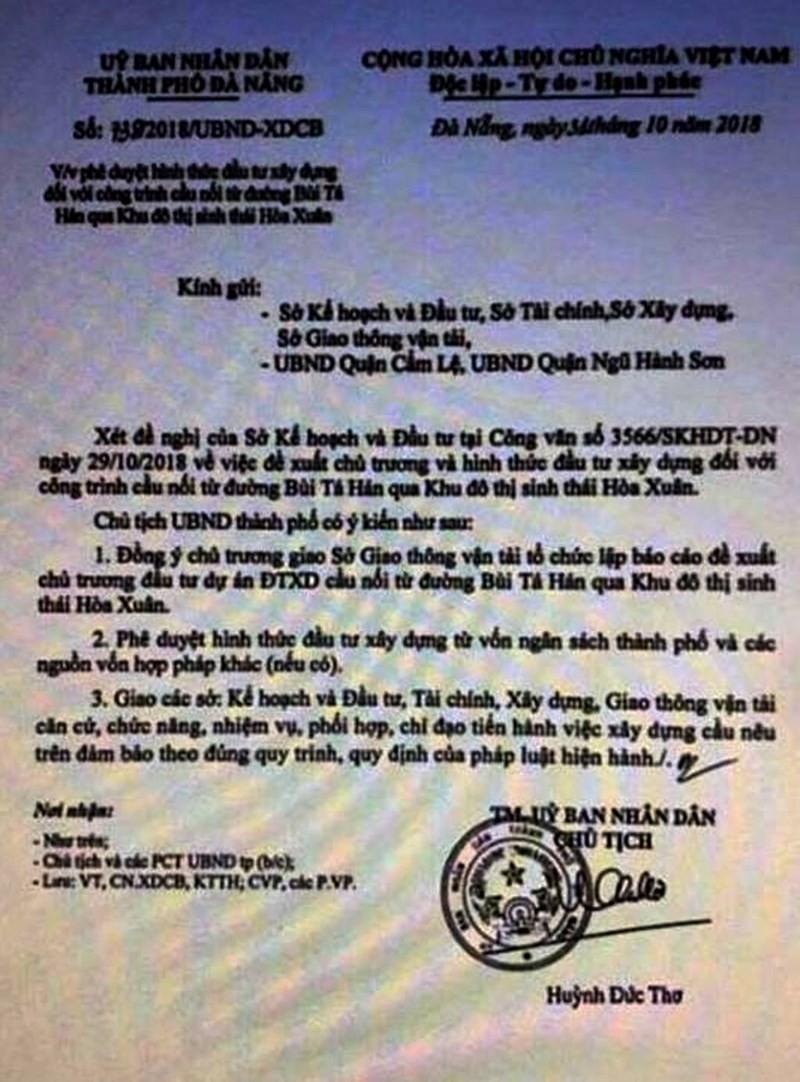 Đà Nẵng chỉ đạo điều tra vụ tung văn bản giả để thổi giá đất - ảnh 1