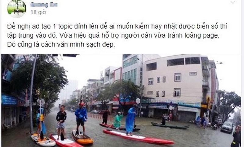 Tìm và nhặt biển số xe sau mưa ngập nóng trên mạng xã hội - ảnh 3
