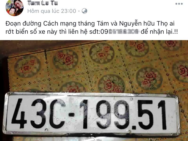 Tìm và nhặt biển số xe sau mưa ngập nóng trên mạng xã hội - ảnh 2