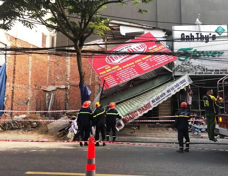 Thi công móng gây sập nhà ở Đà Nẵng - ảnh 1