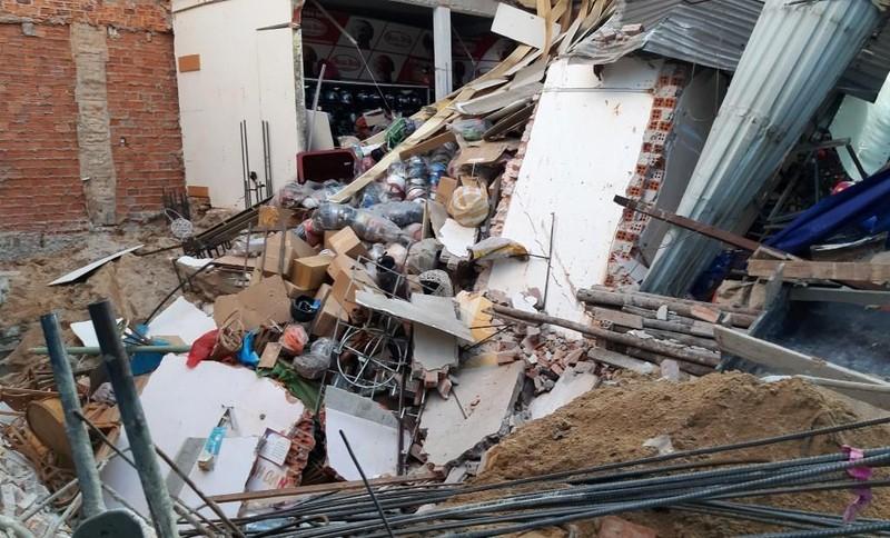 Thi công móng gây sập nhà ở Đà Nẵng - ảnh 2