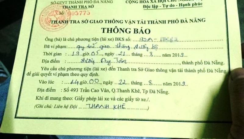 TTGT Đà Nẵng giải thích vụ chặn ô tô Grab gây sốt mạng - ảnh 2