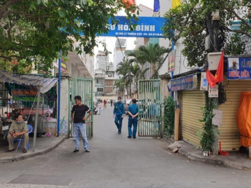 Dân ở lô A2, B1 và B2 chung cư Hòa Bình được phép ra ngoài - ảnh 1