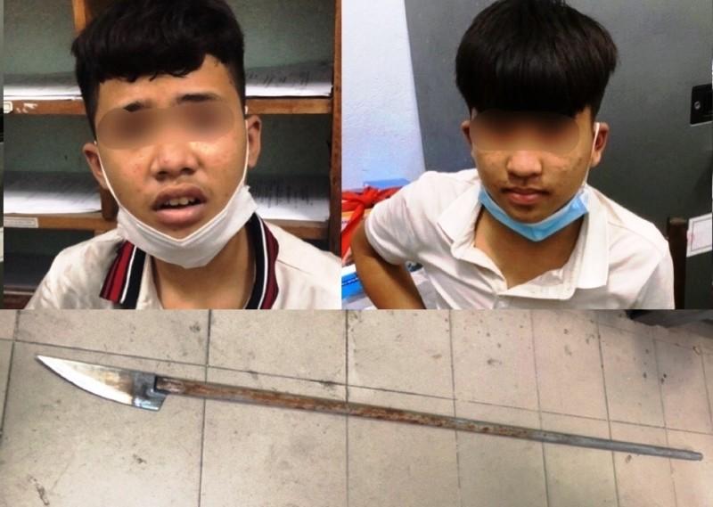 6 thiếu niên dùng dao phóng lợn chống trả lực lượng 911 - ảnh 1