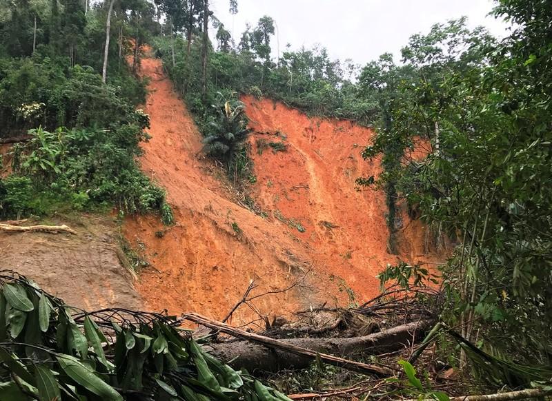 Sạt lở Trà Leng: Đất trên núi cao hàng trăm mét tuôn xuống - ảnh 4