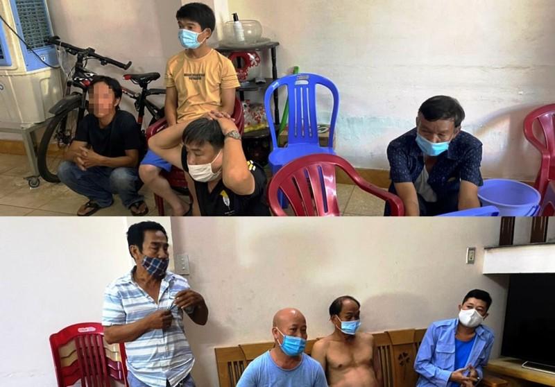 Đà Nẵng: Công an tạm giữ 9 người tụ tập đánh bài ăn tiền  - ảnh 1