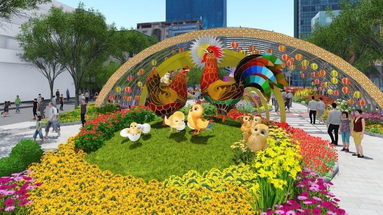 Đường hoa Nguyễn Huệ và lễ hội tết Đinh Dậu 2017 - ảnh 1