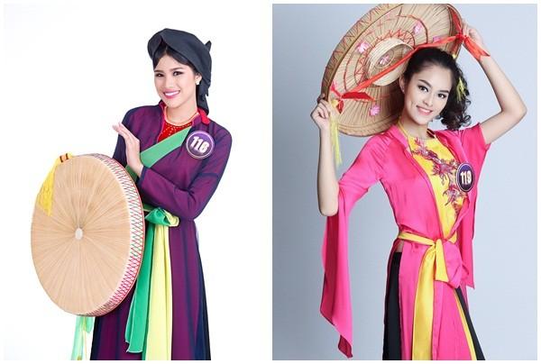 người đẹp của cuộc thi trong các trang phục dân tộc