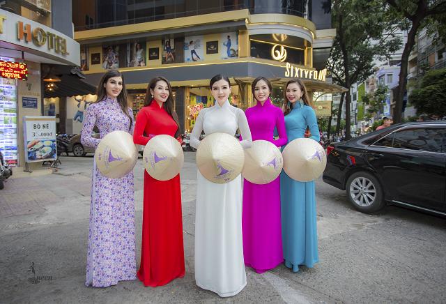 Hoa hậu Pháp diện áo dài, nón lá trên phố Sài Gòn - ảnh 9