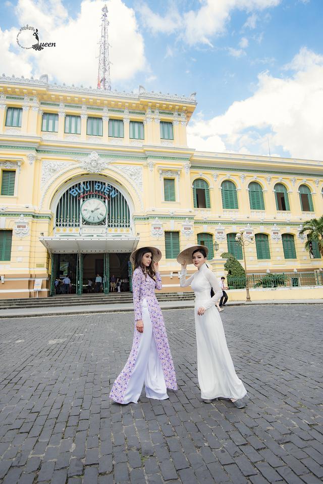 Hoa hậu Pháp diện áo dài, nón lá trên phố Sài Gòn - ảnh 8