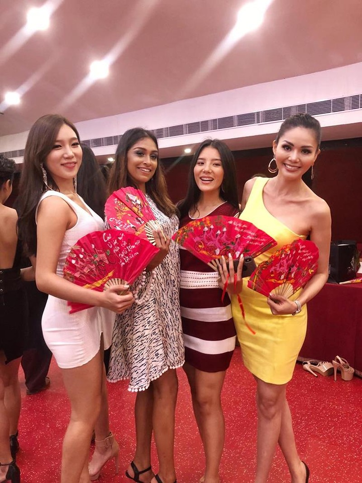 Kim Nguyên mang 150 kg quần áo thiết kế riêng thi Miss Asia  - ảnh 9