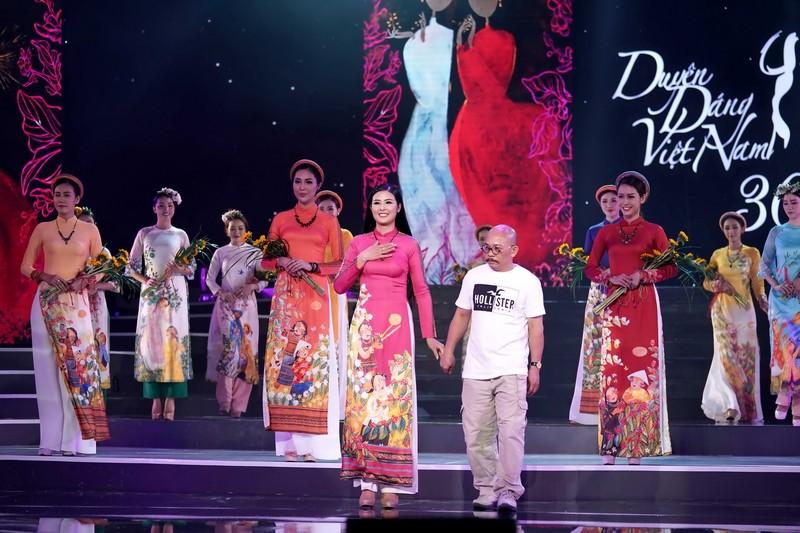 Ngắm bộ sưu tập áo dài xuân của HH Ngọc Hân ở Duyên dáng VN - ảnh 10