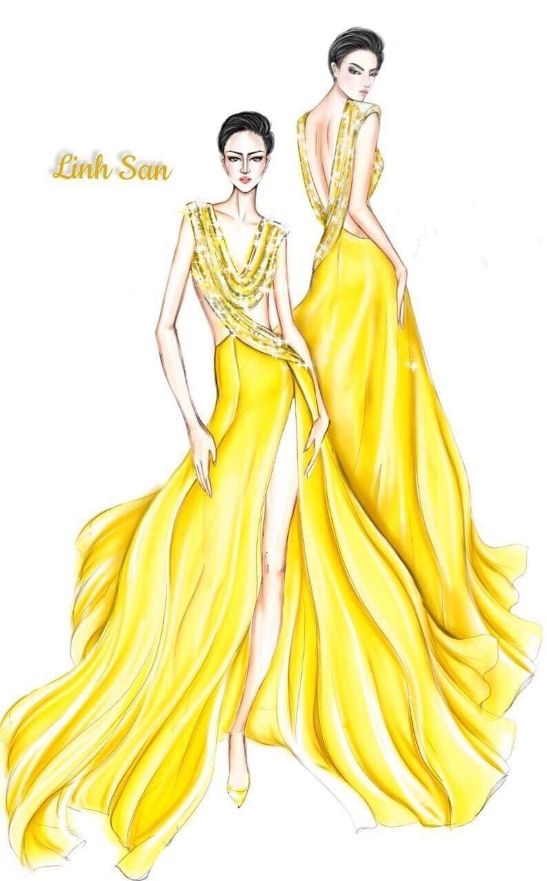Váy dạ hội vàng của H'Hen Niê được xếp đẹp nhất thế giới - ảnh 2