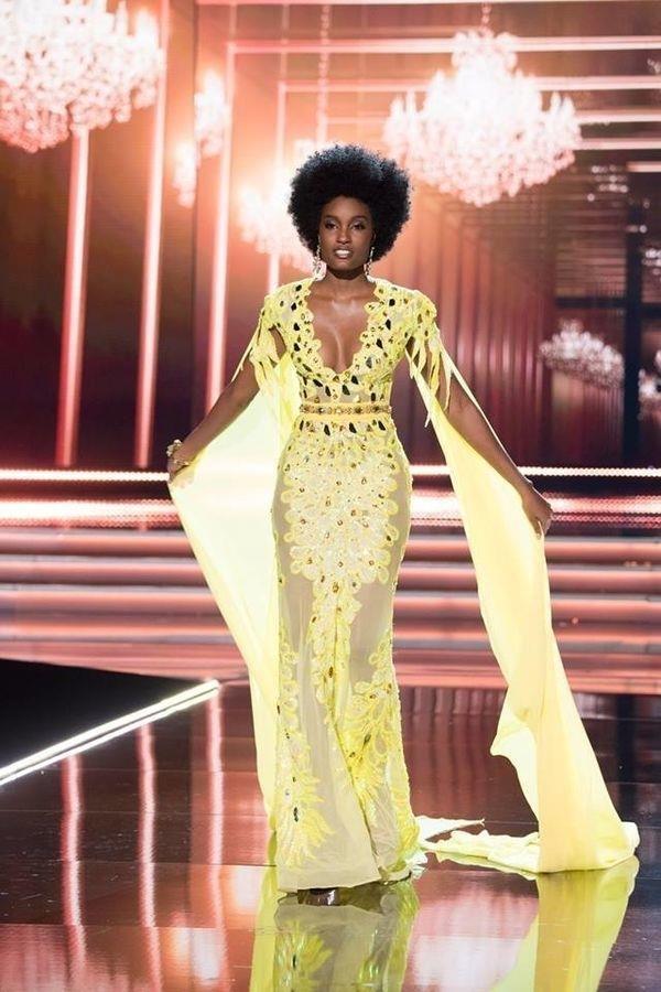 Váy dạ hội vàng của H'Hen Niê được xếp đẹp nhất thế giới - ảnh 6