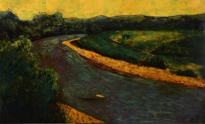 'Thở' sáng tạo tranh sơn mài trên vải của họa sĩ Hiền Nguyễn - ảnh 2