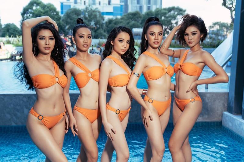 Người đẹp Hoa hậu Hoàn vũ Việt Nam 2019 nóng bỏng với bikini - ảnh 3