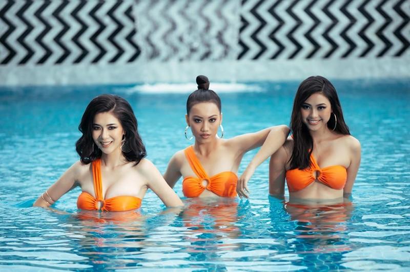 Người đẹp Hoa hậu Hoàn vũ Việt Nam 2019 nóng bỏng với bikini - ảnh 1