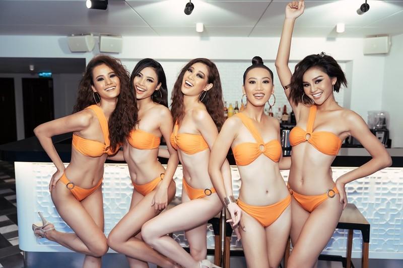 Người đẹp Hoa hậu Hoàn vũ Việt Nam 2019 nóng bỏng với bikini - ảnh 2