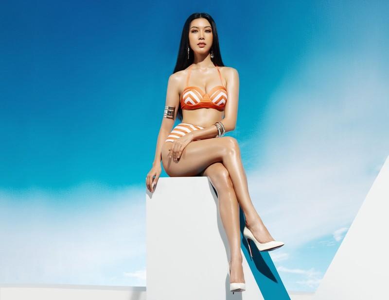 Người đẹp Hoa hậu Hoàn vũ Việt Nam nóng bỏng bikini  - ảnh 5