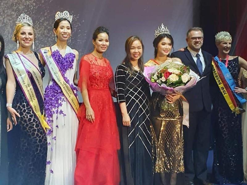 Du học sinh VN đăng quang Hoa hậu Di sản Quốc tế - Pháp 2019 - ảnh 4